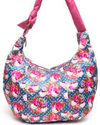 Women - Pretty Floral Oversized Hobo Bag