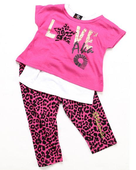 Akademiks Girls Pink 2 Pc Set - Top & Leggings (4-6X)