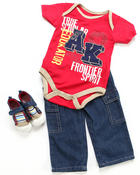 Arcade Styles - 3 PC SET - BODYSUIT, PANT & SNEAKER (INFANT)