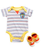 Akademiks - 2 PC SET - BODYSUIT & SNEAKER (NEWBORN)