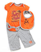 Akademiks - 3 PC SET - BODYSUIT, PANTS & BIB (NEWBORN)
