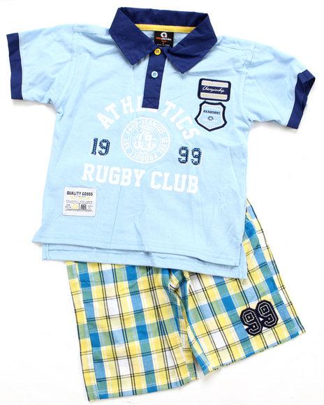Akademiks Boys Multi 2 Pc Set - Polo & Shorts (8-20)