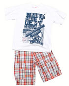 Boys - 2 PC SET - TEE & SHORTS (8-20)