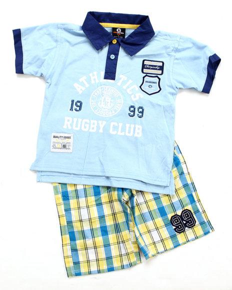 Akademiks Boys Multi 2 Pc Set - Polo & Shorts (4-7)