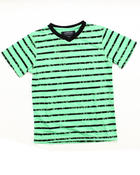 Boys - V-NECK STRIPED TEE (8-20)