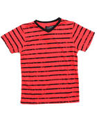Arcade Styles - V-NECK STRIPED TEE (8-20)