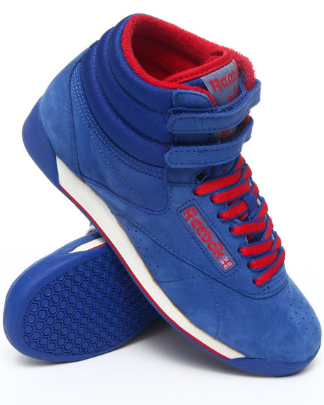 Reebok Blue Freestyle Hi Vintage Intl Sneakers