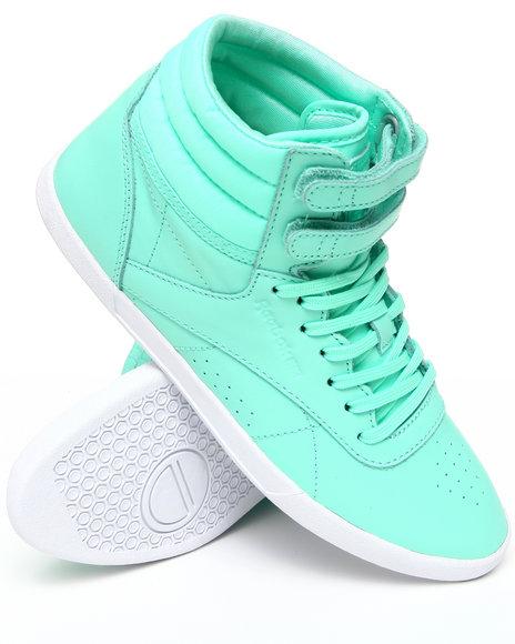 Reebok Women Green Freestyle Hi Mini Sneakers