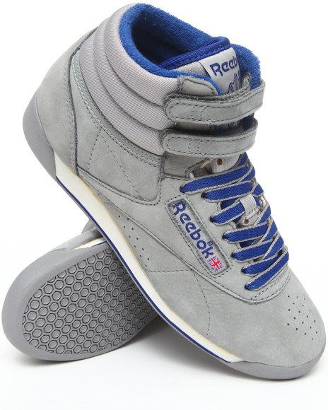 Reebok Women Grey Freestyle Hi Vintage Intl Sneakers