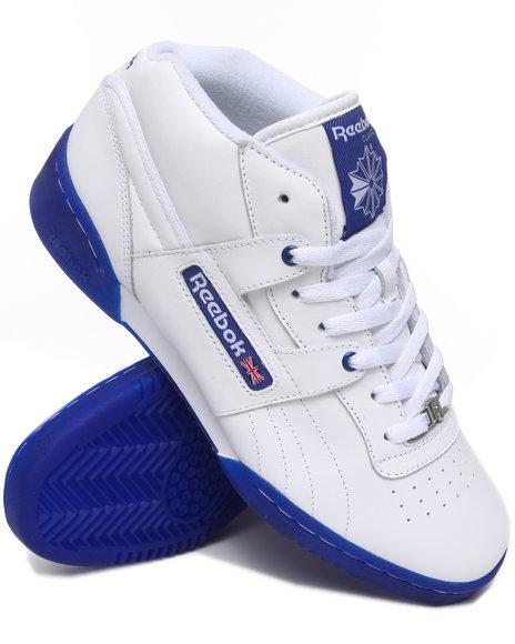 Reebok Men Blue Workout Mid R12 Ice Bottom Sneakers