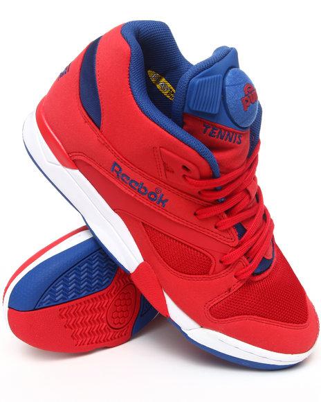Reebok Men Red Court Victory Pump Sneakers