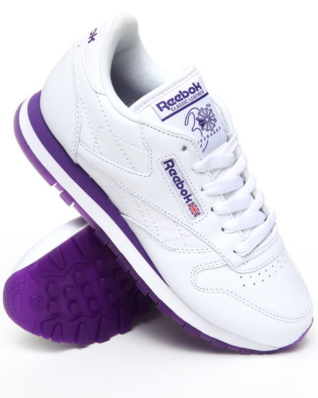 Reebok Women White Classic Leather Ice Bottoms Sneakers