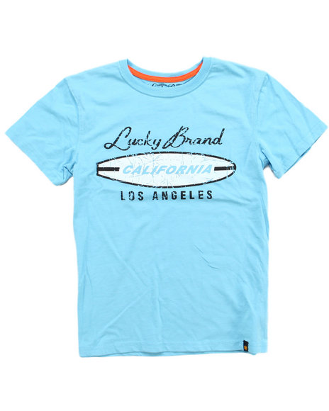 Lucky Brand Boys Light Blue L.A. Tee (8-20)