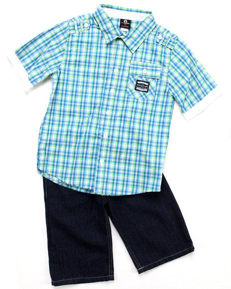 Akademiks Boys Blue 2 Pc Set - Woven & Shorts (8-20)