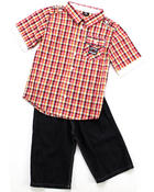 Boys - 2 PC SET - WOVEN & SHORTS (8-20)