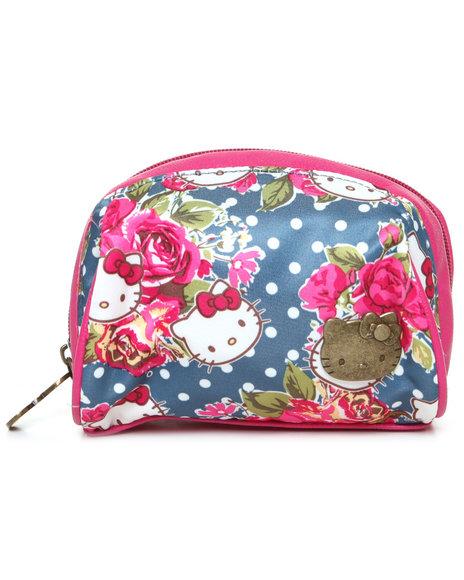 Hello Kitty Women Pretty Florals Cosmetic Case Multi