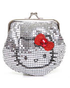 Women - Metal Mesh Kiss Lock Framed Coin Purse