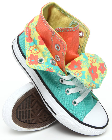 Converse Girls Teal Chuck Taylor All Star Two Fold (11-3)