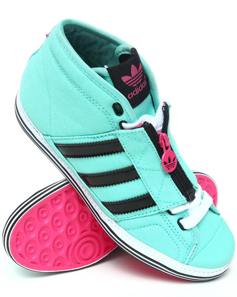 Adidas Women Black,Green,Pink,Teal Vanity Vulc Mid 2 Sneakers