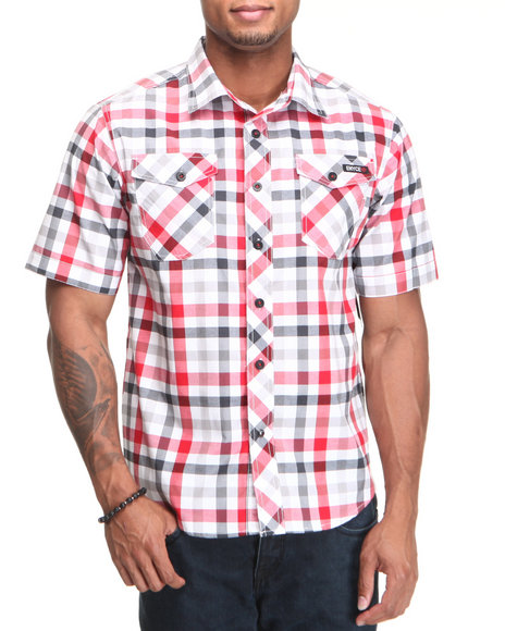 Enyce Men Red Surf S/S Button-Down