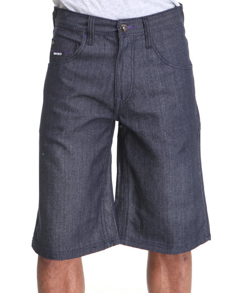 Enyce Men Dark Wash New Tradition Denim Short