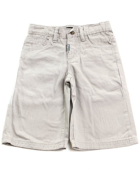 LRG - Boys Light Grey Chino Shorts (4-7)