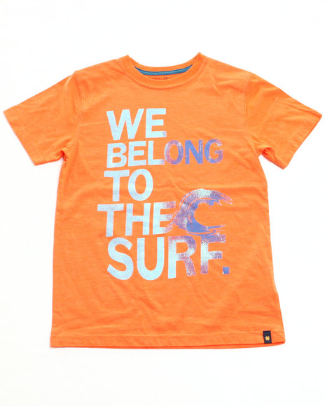 Lucky Brand Boys Orange We Belong Tee (8-20)