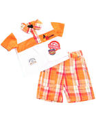 Boys - 2 PC SET - POLO & PLAID SHORTS (INFANT)