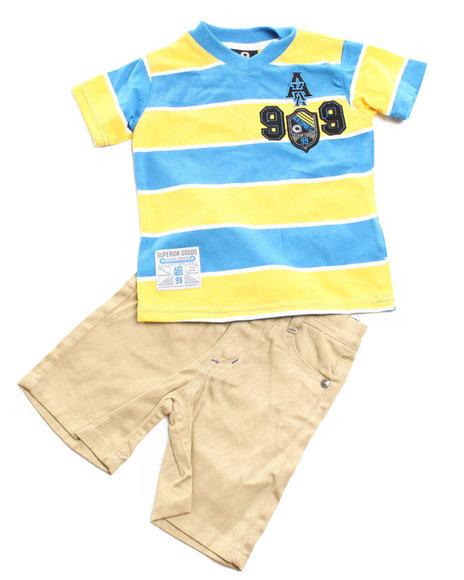 Akademiks Boys Blue 2 Pc Set - V Neck Tee & Shorts (Infant)