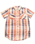 Button-downs - NIHOA S/S PLAID POPLIN WOVEN SHIRT (8-20)