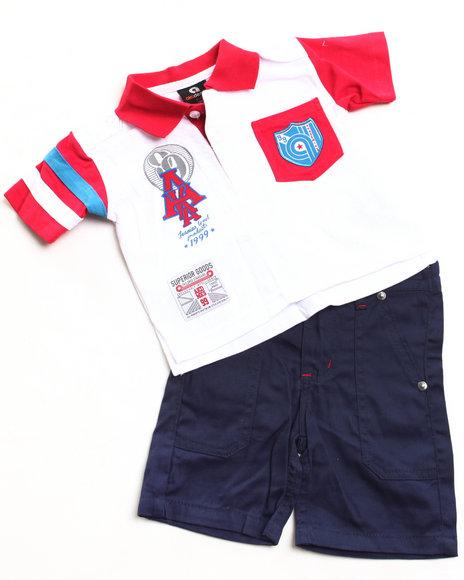 Akademiks - Boys Blue 2 Pc Set - Polo & Shorts (Newborn)