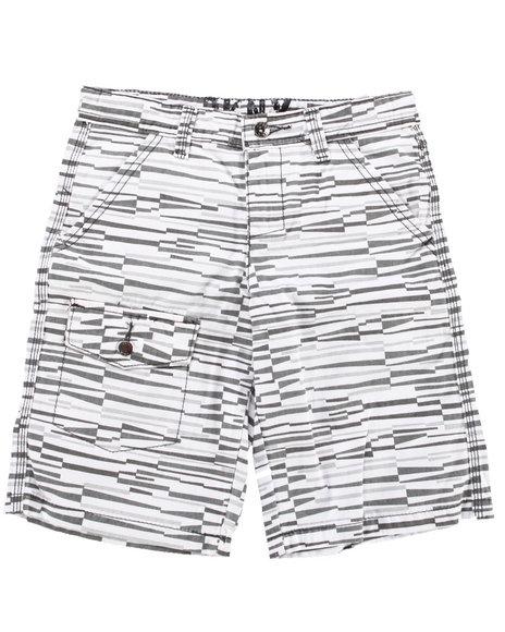 Dkny Jeans - Boys Grey,White Rockaway Cargo Short (8-20)