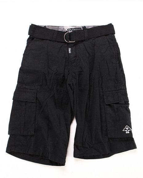LRG Boys Black Cargo Shorts (8-20)
