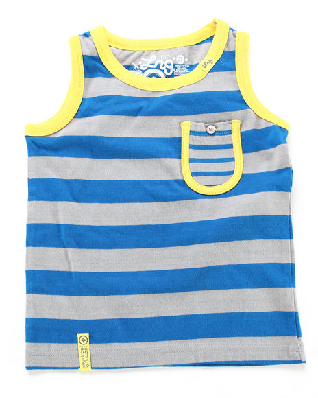 LRG Boys Light Grey,Yellow Forestation Tank Top (2T-4T)