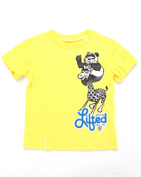 LRG Boys Yellow Getting Lifted Tee (2T-4T)