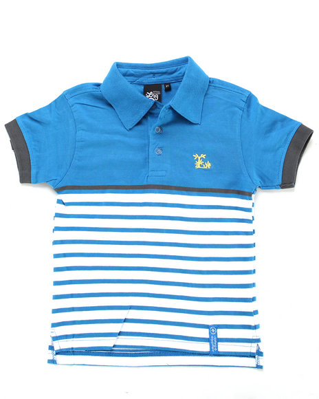 LRG Boys Blue Down From Earth Polo (2T-4T)