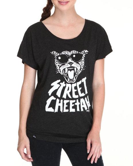 LRG Women Black Street Cheetah Dolman Tee