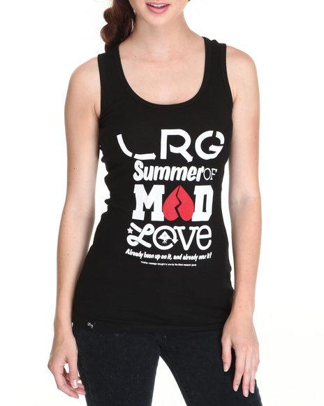 LRG Women Black Mad Love Rib Tank Top