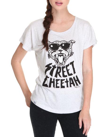 Lrg - Women White Street Cheetah Dolman Tee