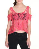 Women - Knit Floral Top