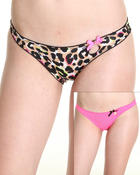 Intimates & Sleepwear - 2Pk Animal Solid Keyhole Scalloped Edge Panty