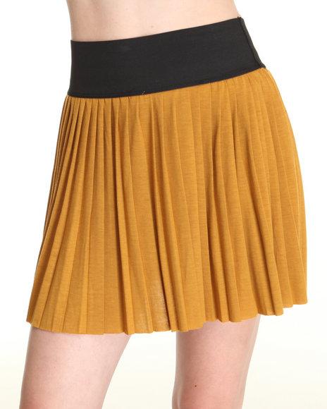 Fashion Lab Yellow Mindy Mini Pleat Skirt