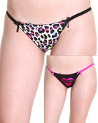 Intimates & Sleepwear - 2Pk Lace Back Solid Animal Tangas Panty