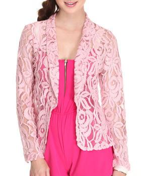 Fashion Lab - Crown Floral Crochet Blazer
