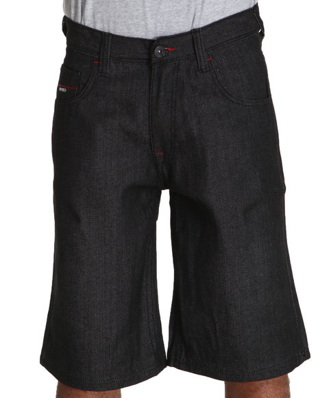Enyce Men Black New Tradition Denim Short