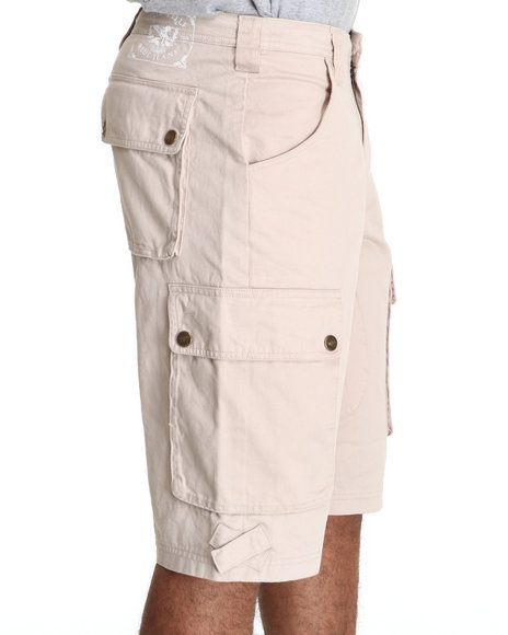 Pelle Pelle Men Khaki Pelle Classic Cargo Shorts