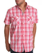Button-downs - Deon Plaid Short Sleeve Woven Shirt