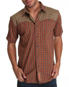 Button-downs - S/S Twill Yoke Plaid Rollup Button down