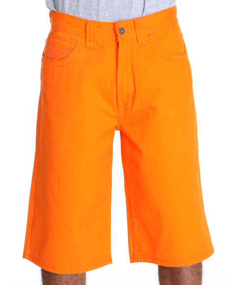 Pelle Pelle Men Orange Flap Pocket Shorts