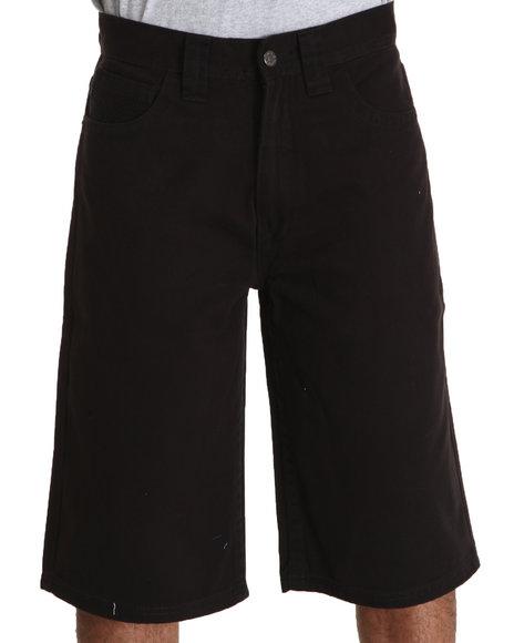 Pelle Pelle Men Black Flap Pocket Shorts